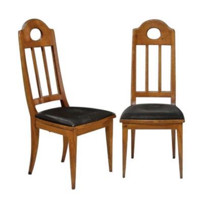 Richard Riemerschmid - Paire De Chaises En Chêne
