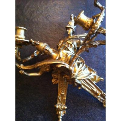 Grande Paire d'Appliques St.regence Bronze Dore