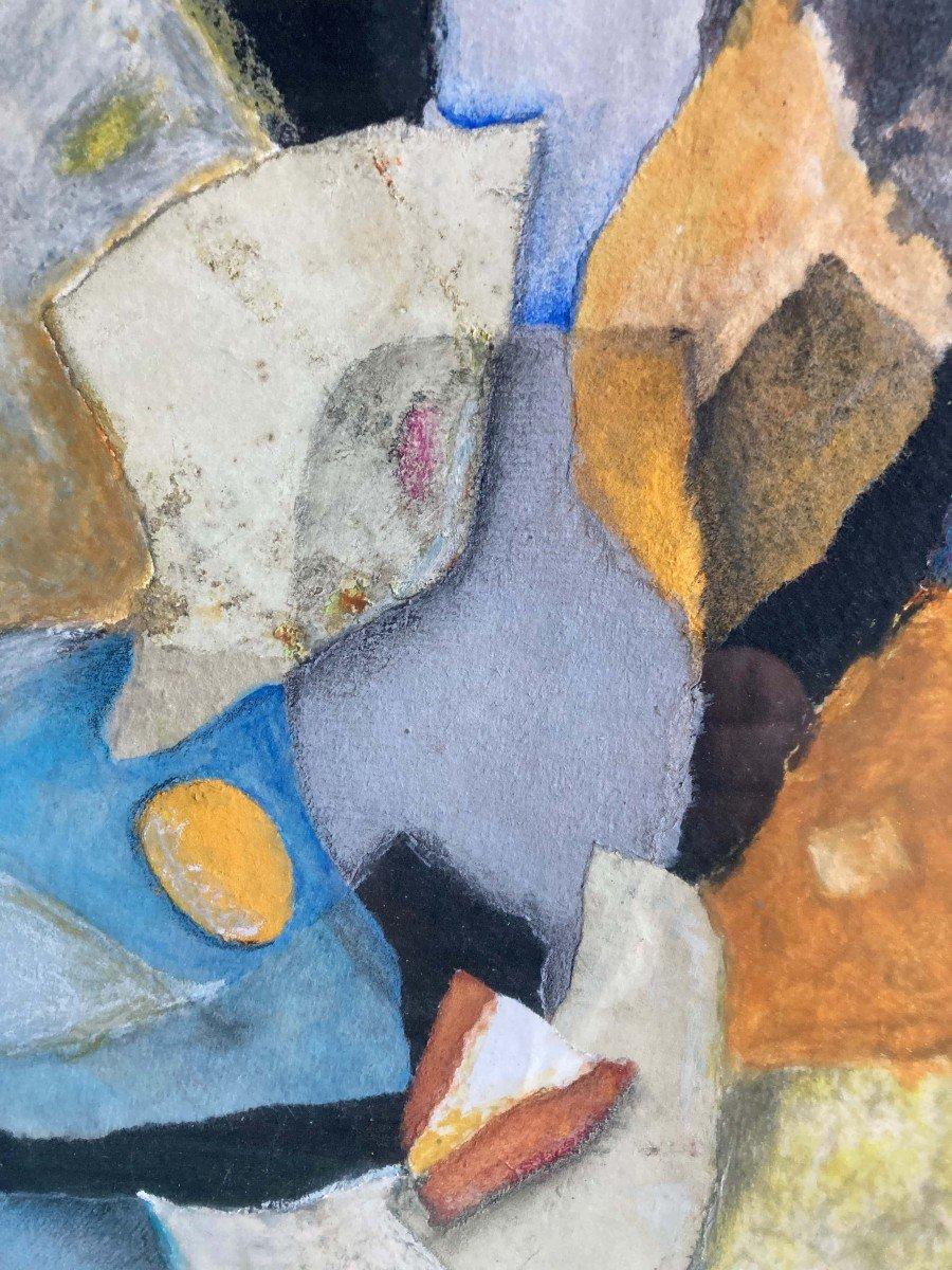 Composition Abstraite Signée Fernand Rolland 1989