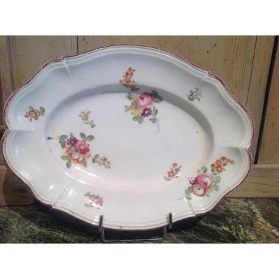 Plat Porcelaine De Locré XVIIIeme