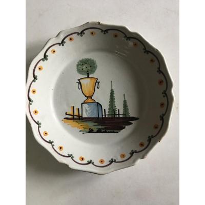 Nevers, Plate With Orange Decor XVIII