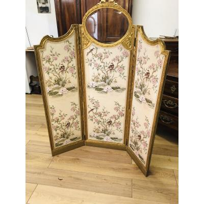 Louis XVI Screen With Three Leaves