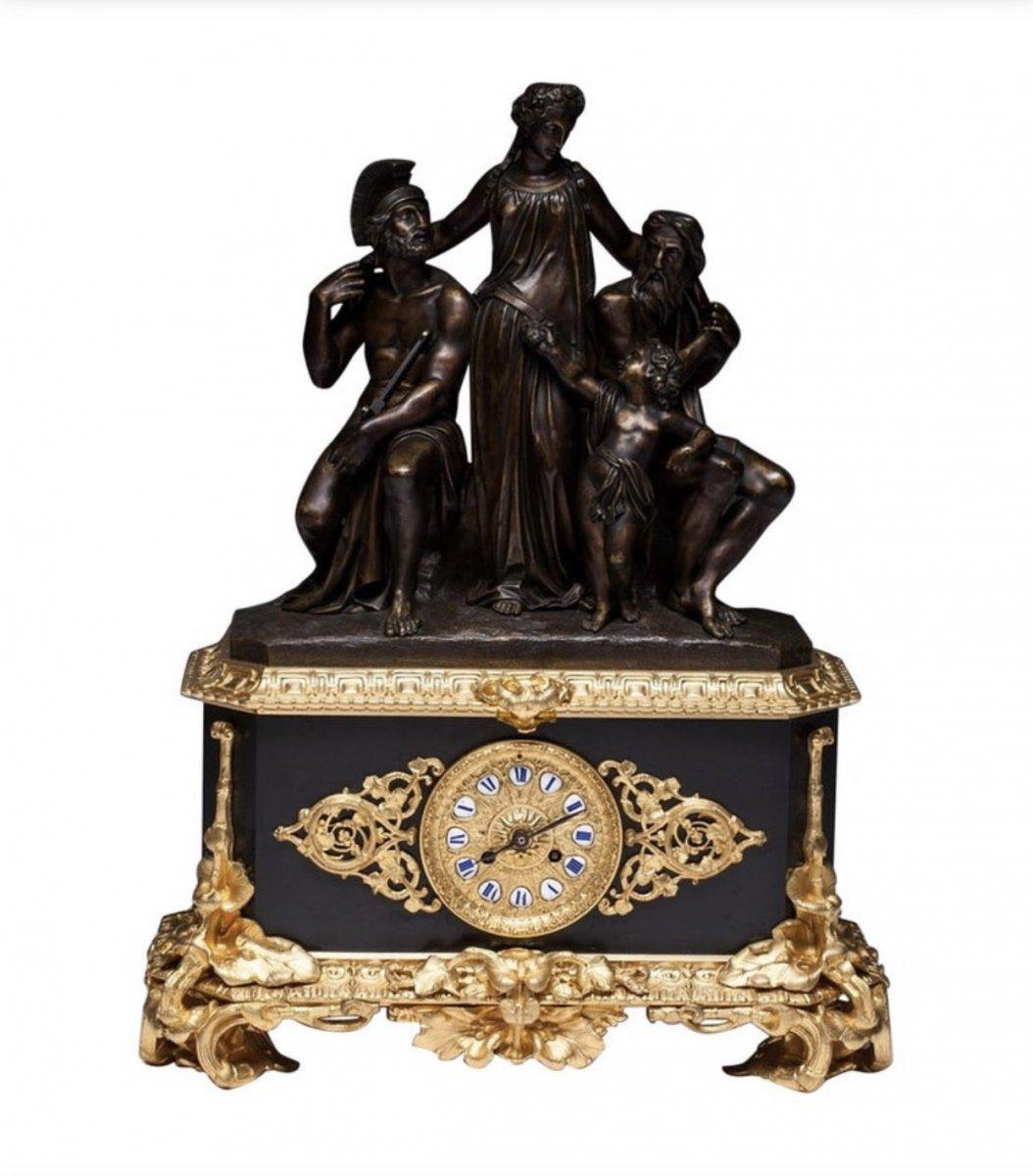 Jean Francois Deniere / Jean-François Denière A Paris French Bronze Clock