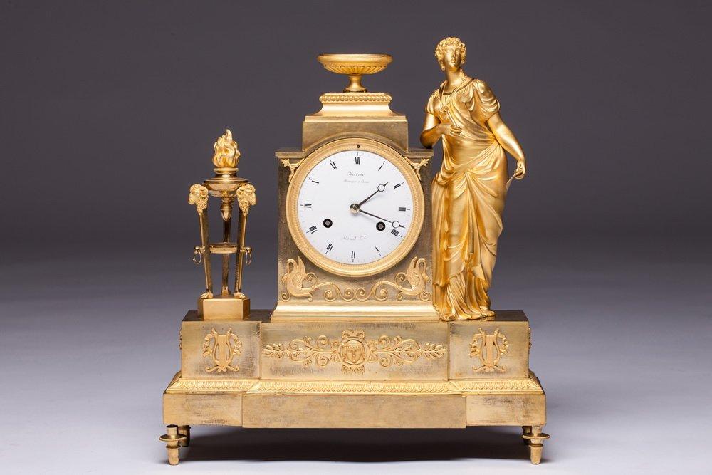 An Empire Mantel Clock By Andre-antoine Ravrio, Paris