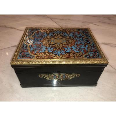 Gentleman's Box Napoleon III, Boulle, Turtle Marquetry