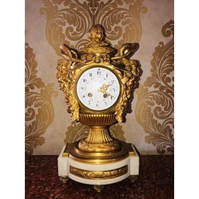 French Bronze Clock By Lerron