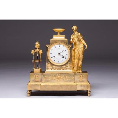An Empire Mantel Clock By Andre-antoine Ravrio, Paris