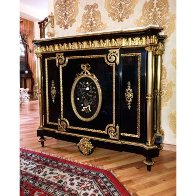 Fine Napoleon III Gilt-bronze Commode By Henri Picard (1840-1890)