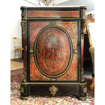 Boulle Side Cabinet Marquetry Bronze Napoleon III Period