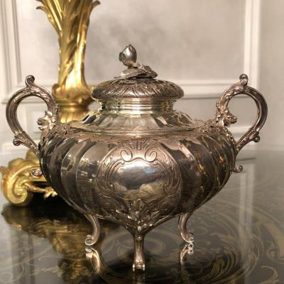 FROMENT MAURICE Silver Sugar Bowl