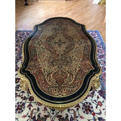 19th Century Napoleon III Boulle Marquetry Table