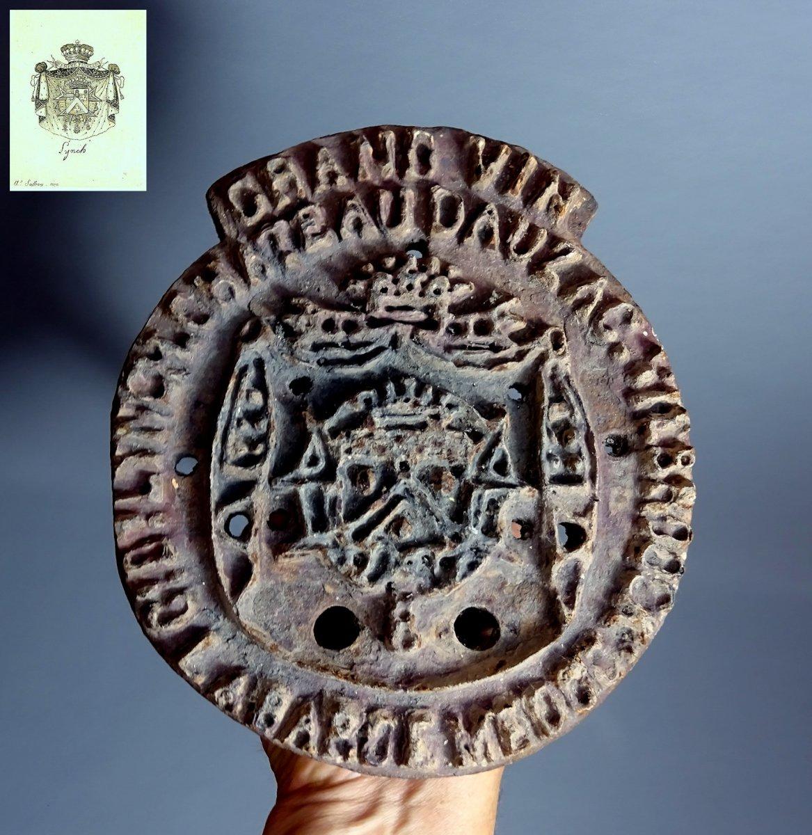 Chateau Dauzac Viebrock Count Of Lynch Rare Red-hot Branding Iron To Mark The Wine Barrels, Circa 1841