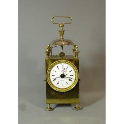 Pendulum Nasturtium Forming Reveil, Circa 1820-1830, Thread & Exhaust Anchor Movement
