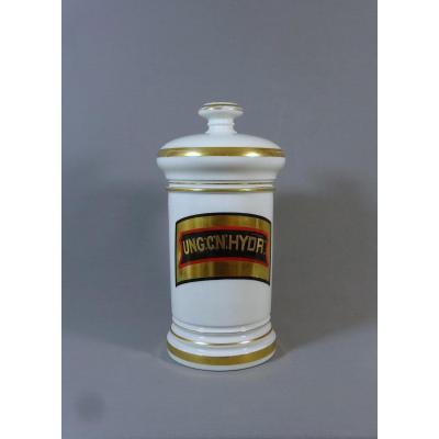 Pot à Pharmacie, D'apothicaire du XIXeme Siecle en Porcelaine de Limoges, A Collin à Paris