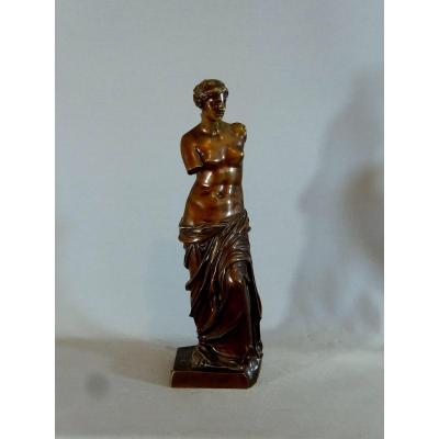 Sculpture La Vénus De Milo, Beau Tirage En Bronze d'Edition Du 19eme Siècle