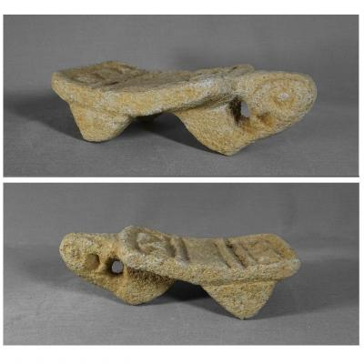 Mexico, Costa Rica Or Nicaragua, Small Metate Or Volcanic Stone Grindstone, 500 -1200 Ad J.-c.