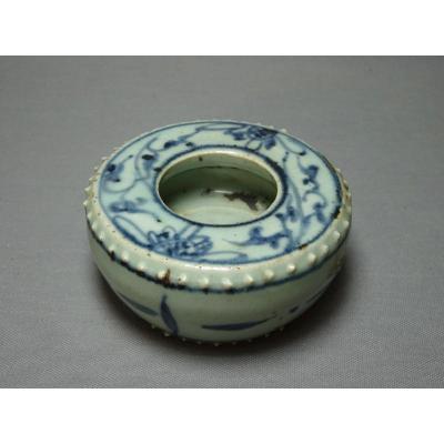 Pot Lave Pinceaux en Porcelaine De Chine, Dynastie Des Ming, Beau Grès de Porcelaine à Glaçure Céladon