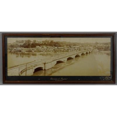 Bayonne, Le Pont Saint Esprit,  Neurdein Frères Photographes ; belle Photo Panoramique De Grand Format, Vers 1900