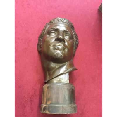 Tête d'Un Jeune Homme ( Bas Relief) En Bronze D l'Année 20, Travail Artistique ,anonyme