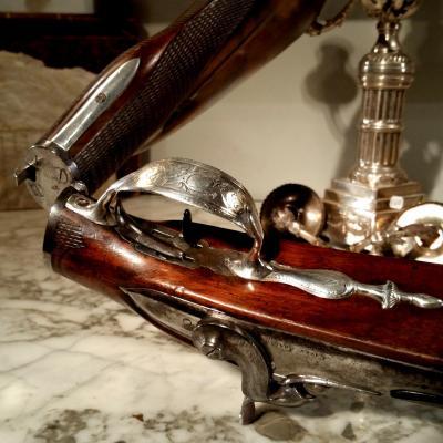 Cazes. Arquebusier Titré Du Roi Louis XVI. Rare Fusil De Braconnier.