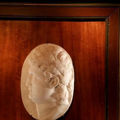 Profil d'Empereur. Marbre XVIIIÈme Siècle.