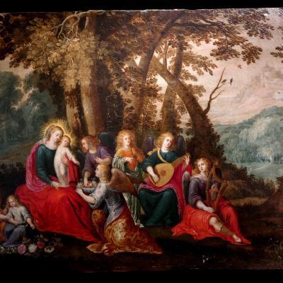 """""""Vierge à l'Enfant"""" -Abraham Govaerts Et Louis De Caullery. Flandres, Début Du XVIIème Siècle."""