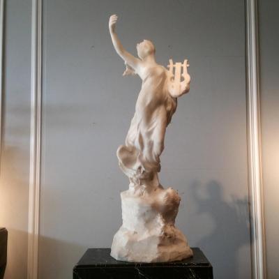Henri Weigele  (1858-1927). Importante Sculpture En Marbre.