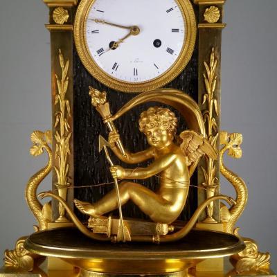 Rare Pendule à l'Amour. Époque Restauration (1814-1830).