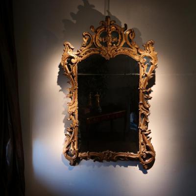 Miroir rocaille à Parcloses. Epoque LOUIS XV.
