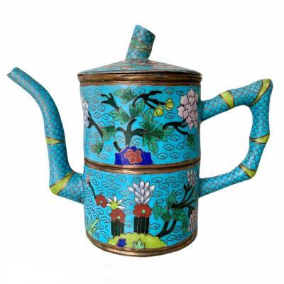 China Cloisonne Enamel Teapot