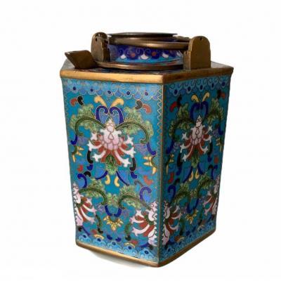 Verseuse sake émaux Cloisonnés Chine