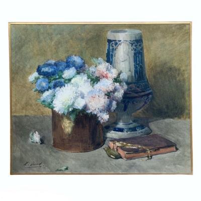 Ernest Quost Aquarelle Au Bouquet