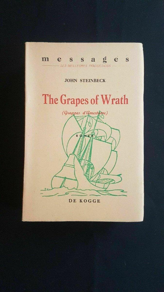 John Steinbeck - The Grapes Of Wrath (grappes d'Amertume) - De Kogge 1942 - Première édition