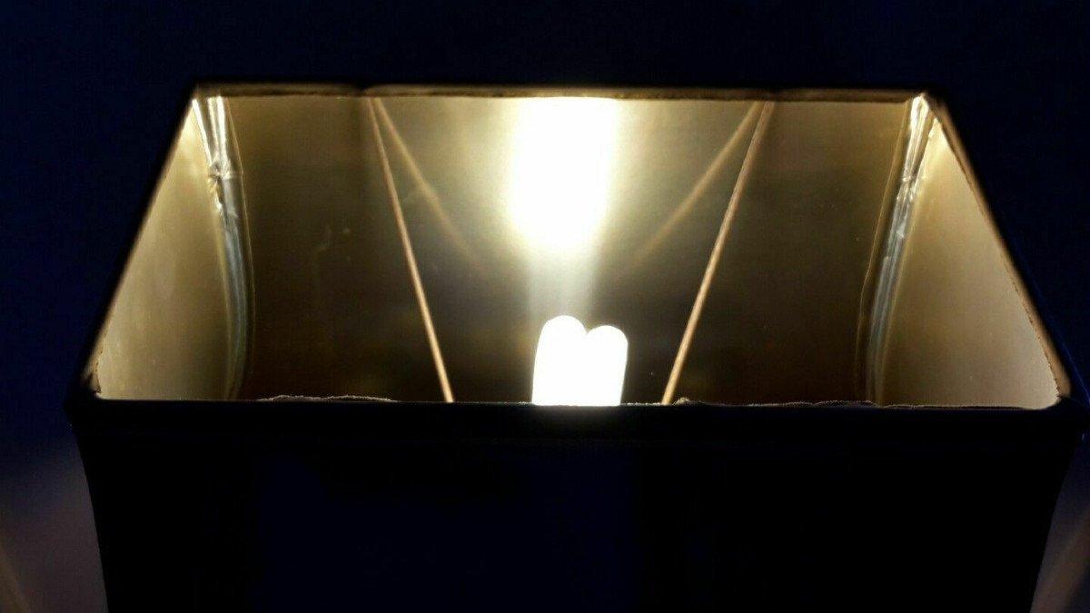 Lampe avec canard en laiton  sur socle bois laqué - Style Maison Charles - Années 70-photo-1
