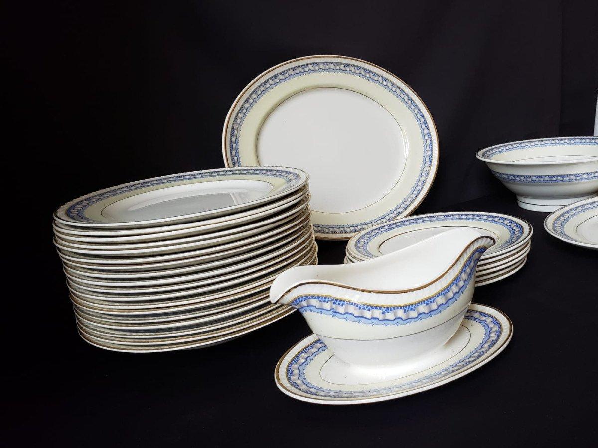 Service de Table Portland Pottery Cobridge Regal Works Staffordshire  28 pièces-photo-3