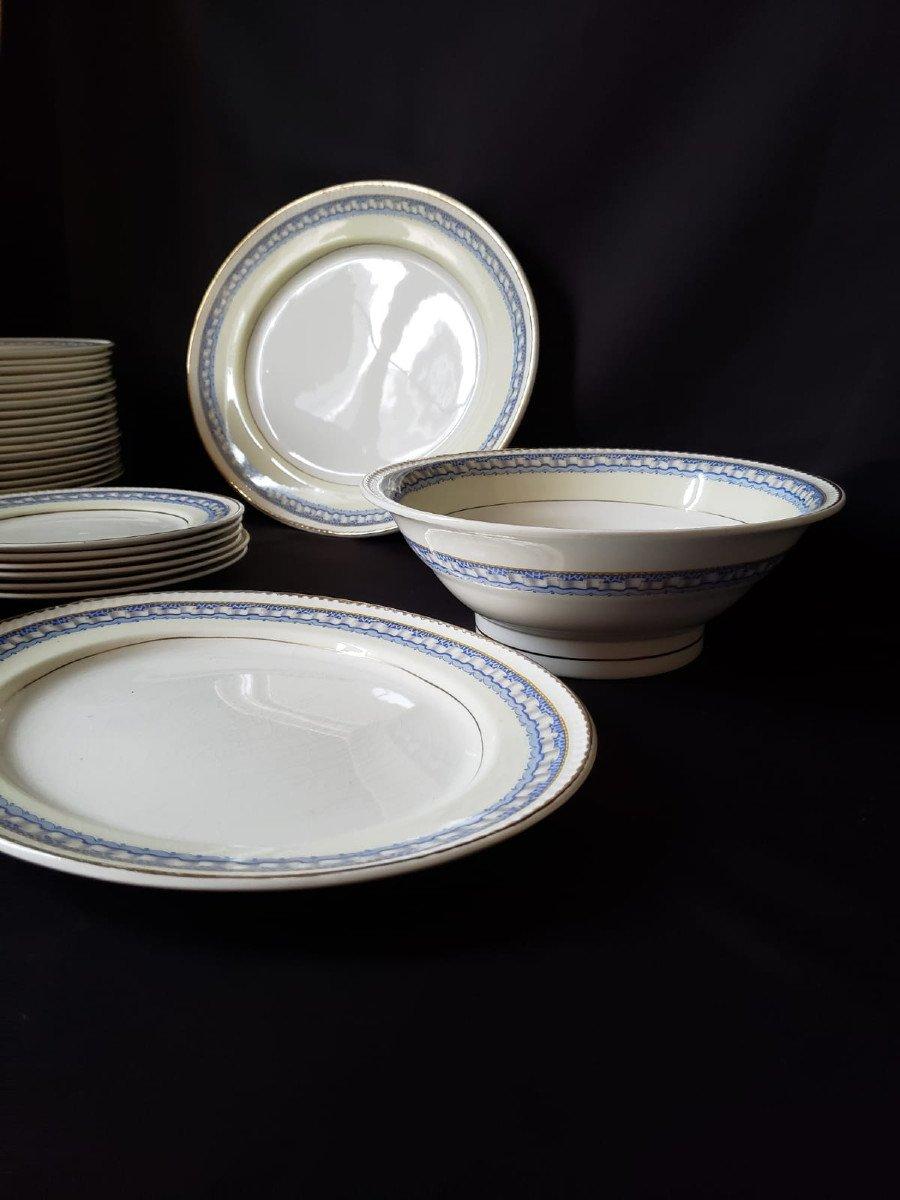 Service de Table Portland Pottery Cobridge Regal Works Staffordshire  28 pièces-photo-4