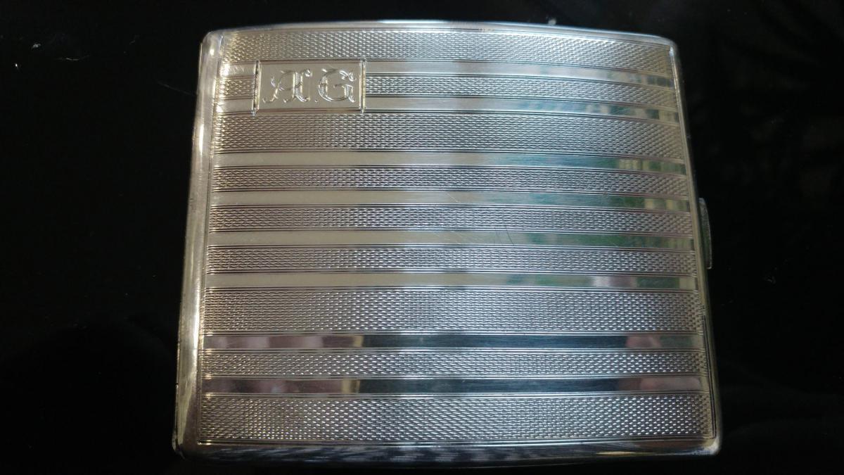 Erotic Tobacco Box In Sterling Silver-photo-2