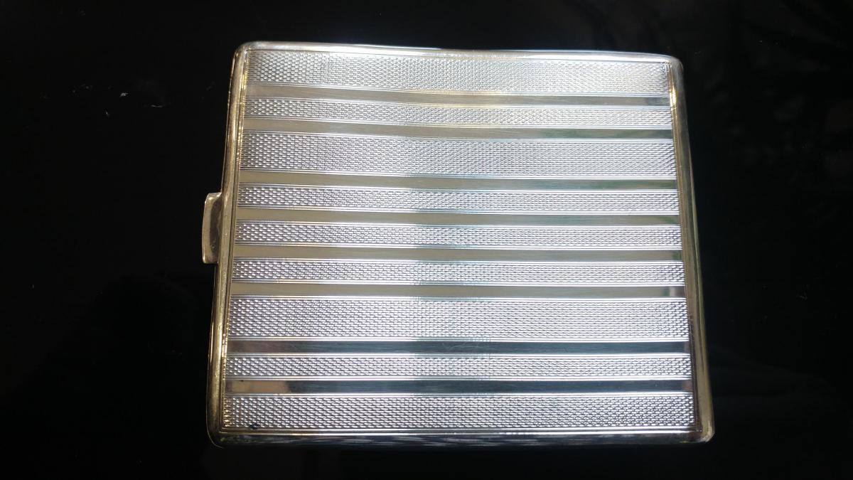 Erotic Tobacco Box In Sterling Silver-photo-3