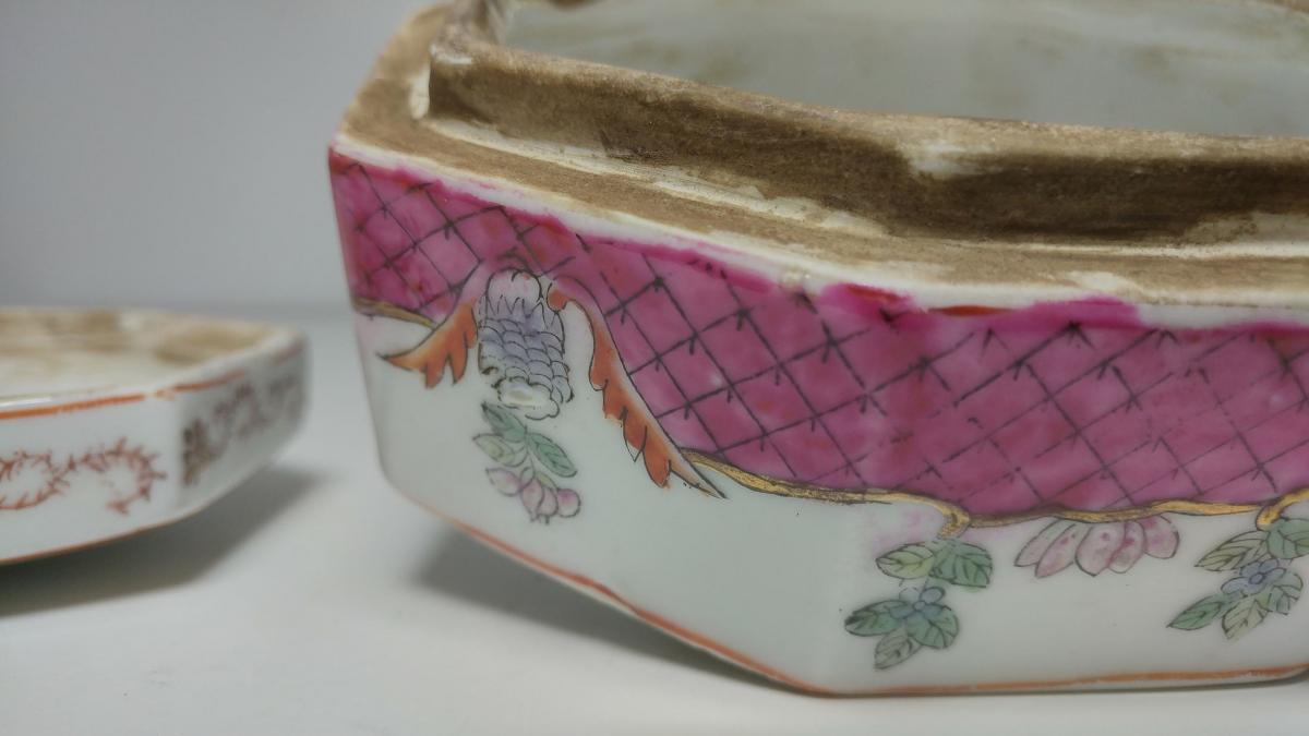 Boite En Porcelaine d'Asie-photo-1
