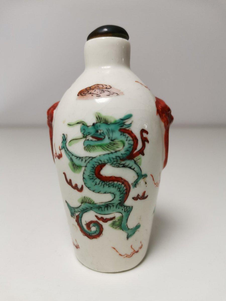 XIXth Chinese Porcelain Bottle