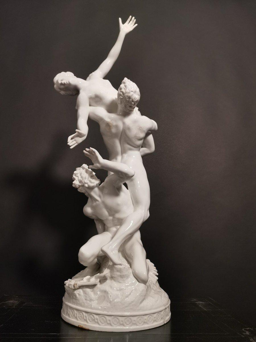 Un Groupe De Porcelaine Du Revissement  Xox Eme  De Sabine 77 Cm-photo-3
