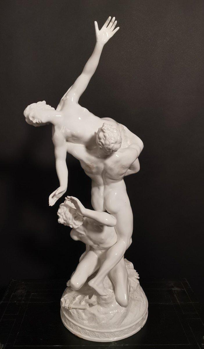 Un Groupe De Porcelaine Du Revissement  Xox Eme  De Sabine 77 Cm