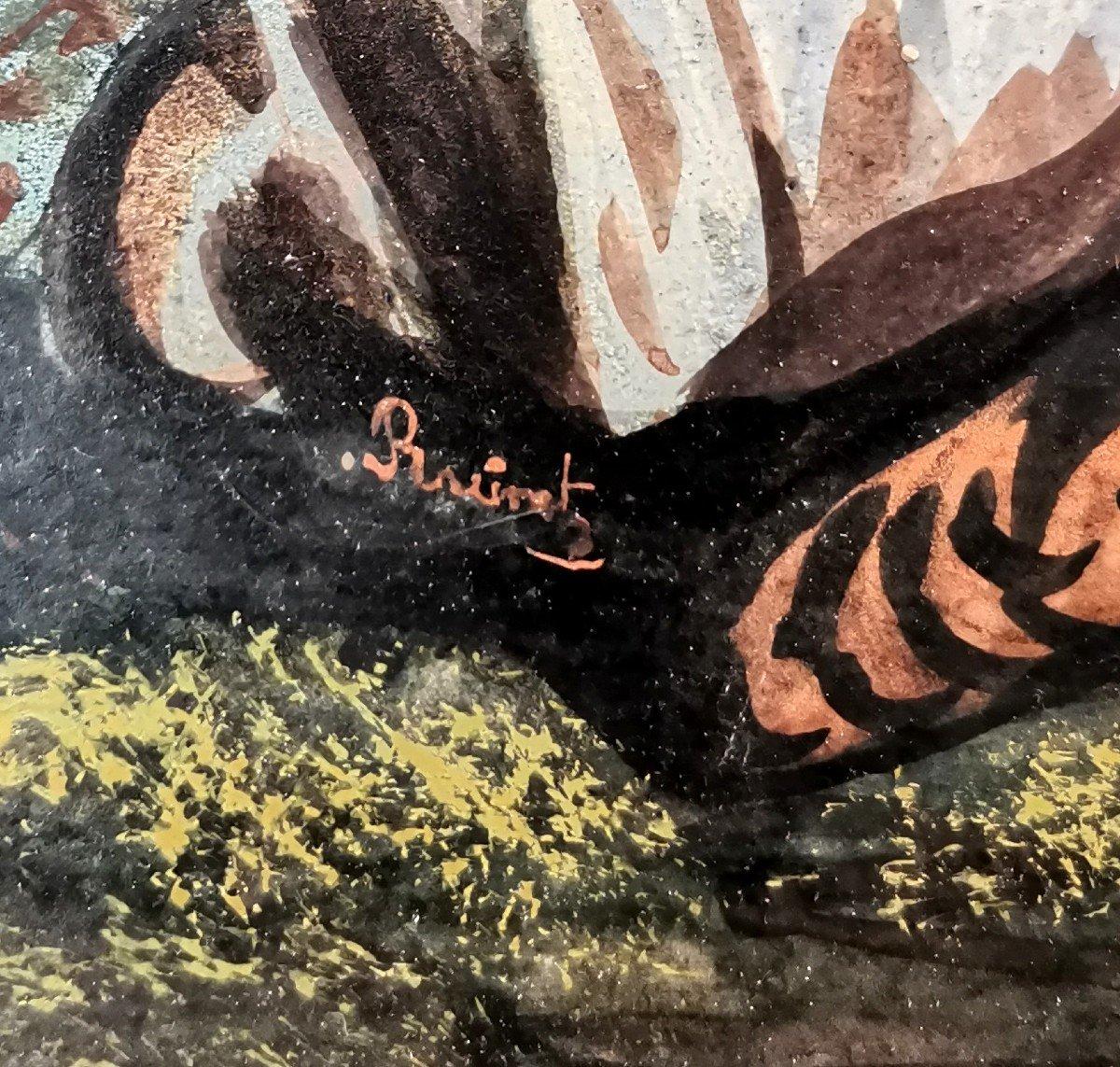 Peinture Avec Musique Automate Du XIX Eme-photo-4