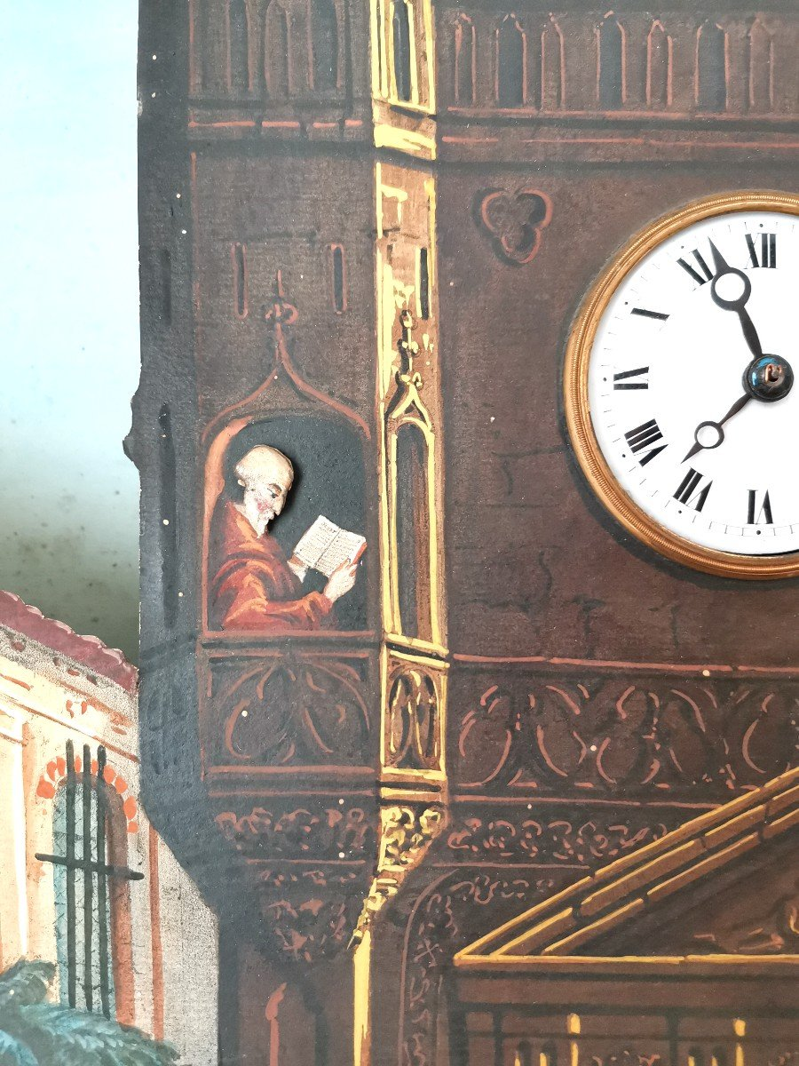 Peinture Avec Musique Automate Du XIX Eme-photo-2