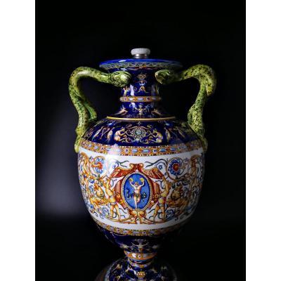 Grande Vase Giens XIX Eme