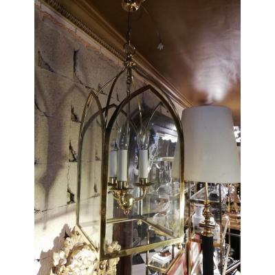 Lanterne En Bronze De Style Louis XVI , Début 20ème.