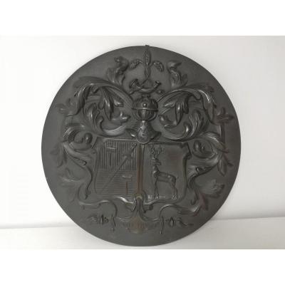 Blason En Bronze Patine Belgique XIX Eme