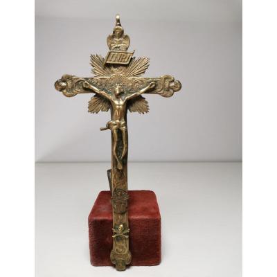 Croix De Bronze Du XVIIe SiÈcle