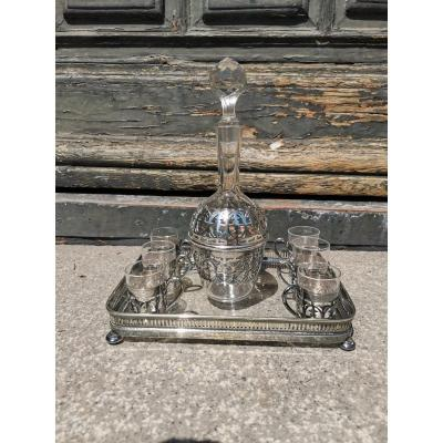 Crystal And Silver Liquor Service