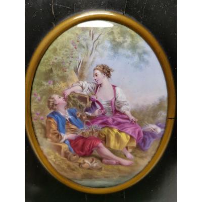 Plaque ÉmaillÉe Du XIX Eme miniature